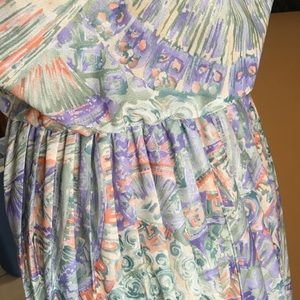 Vintage multicolor sheer dress